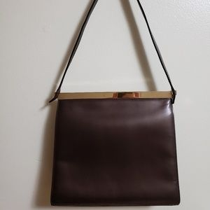 Authentic Gucci Shoulder bag Deep Brown leather